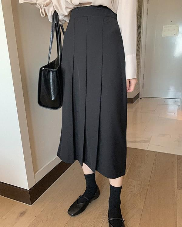 Dina pleated long skirt