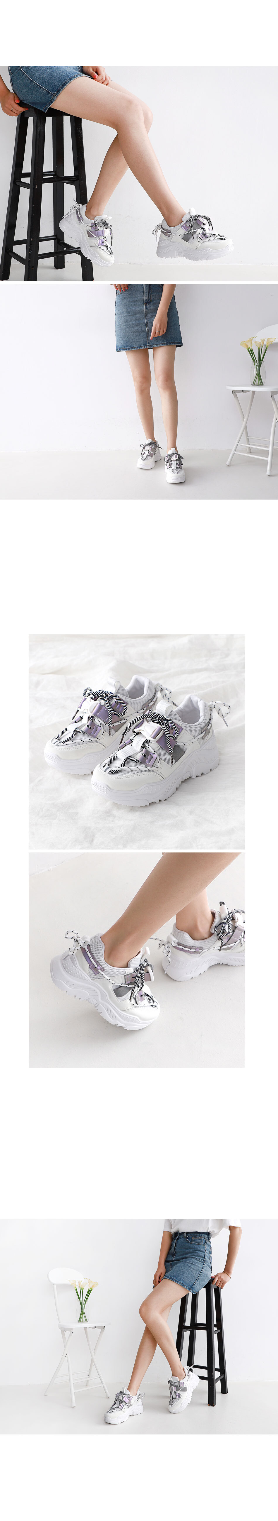 Isshu Buckle Rope Strap Full Heel Wedge Ugly Shoes Sneakers 10714 ♡ First Edition ♡