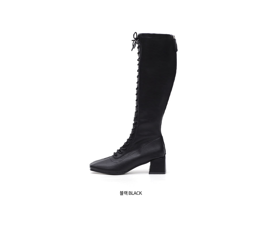Issu high lace up long boots knee high boots 10824 ♡