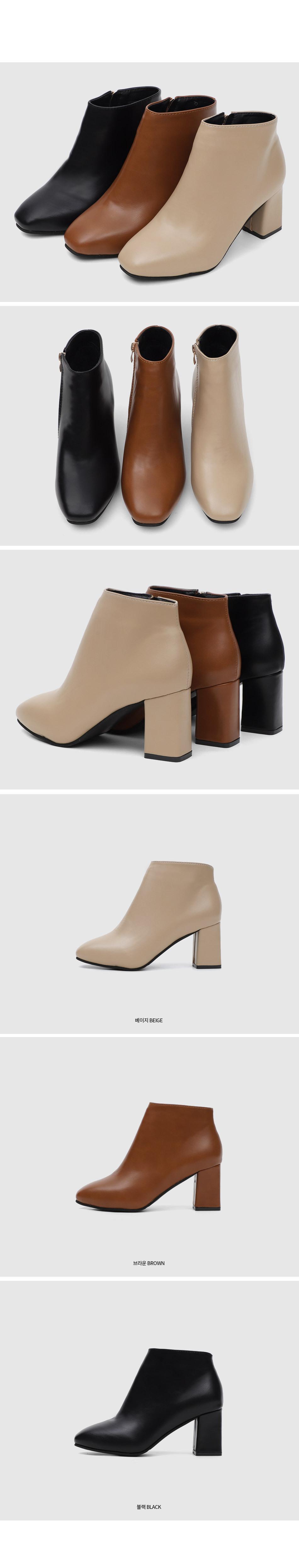 Isshu Block Heel Ankle Boots WJ0060