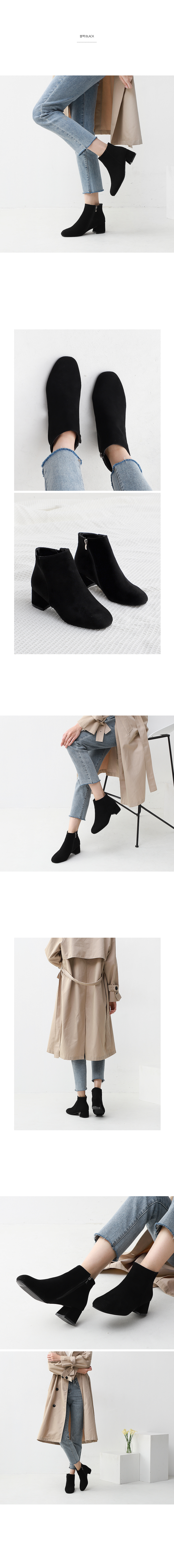Isshu round nose suede ankle boots 9014 ♡ second edition ♡