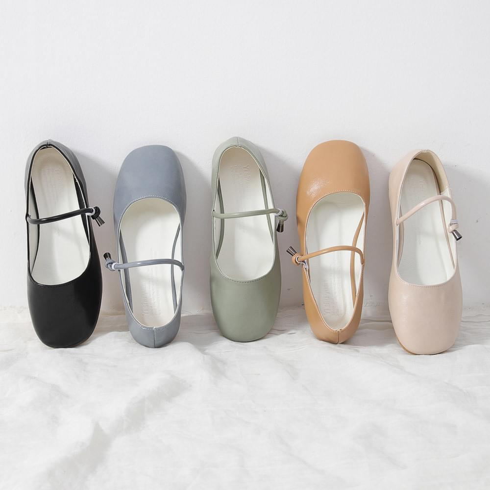 Isshu Crude Banding Hook Strap Mary Jane Shoes Loafers 10689