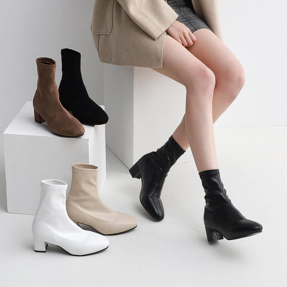 Isshu Two-material Round Nose Sock Socks Boots 9090