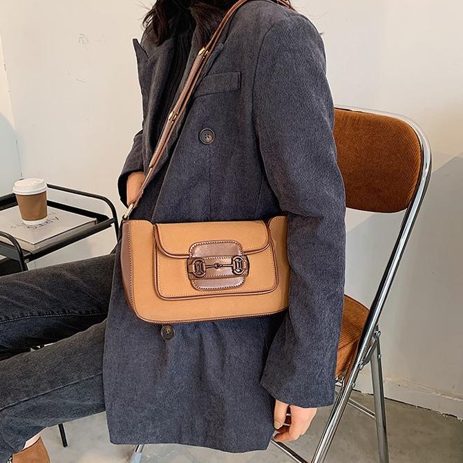 Classic suede fashion shoulder bag