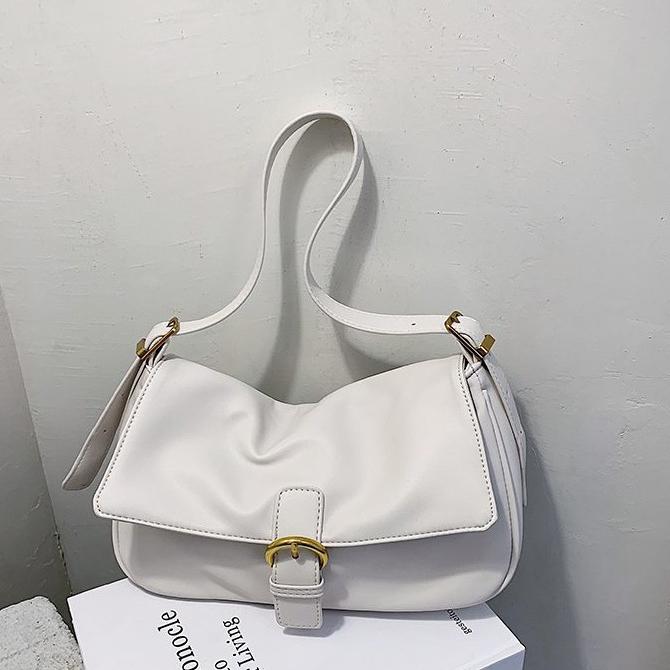 Daily Line Retro Plain Shoulder Bag