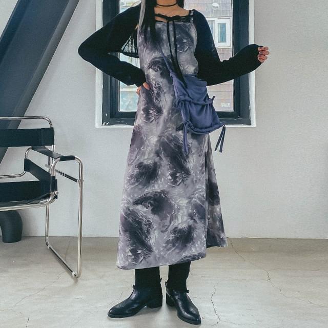 Tie Dye Beaute Bustier Long Dress