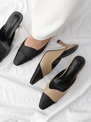 Isshu Combi Style Unbalanced Mule Sandals 5324 ♡ First Edition ♡