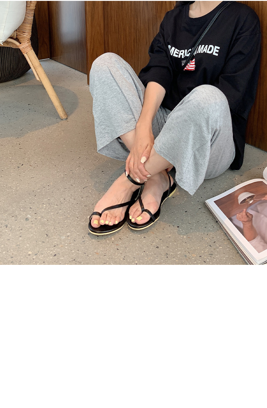 Rizzo plucked strap sandals