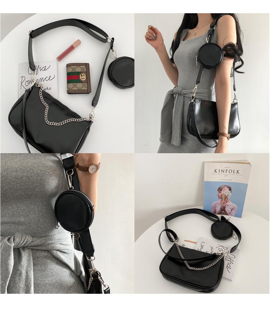 Multi-chain pochette crossbody bag