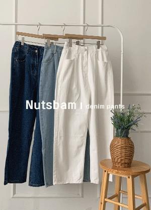 Knotts Bomb High Waist Pintuck Banding Spandex Denim Pants Jeans