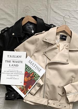 Derit leather rider jacket