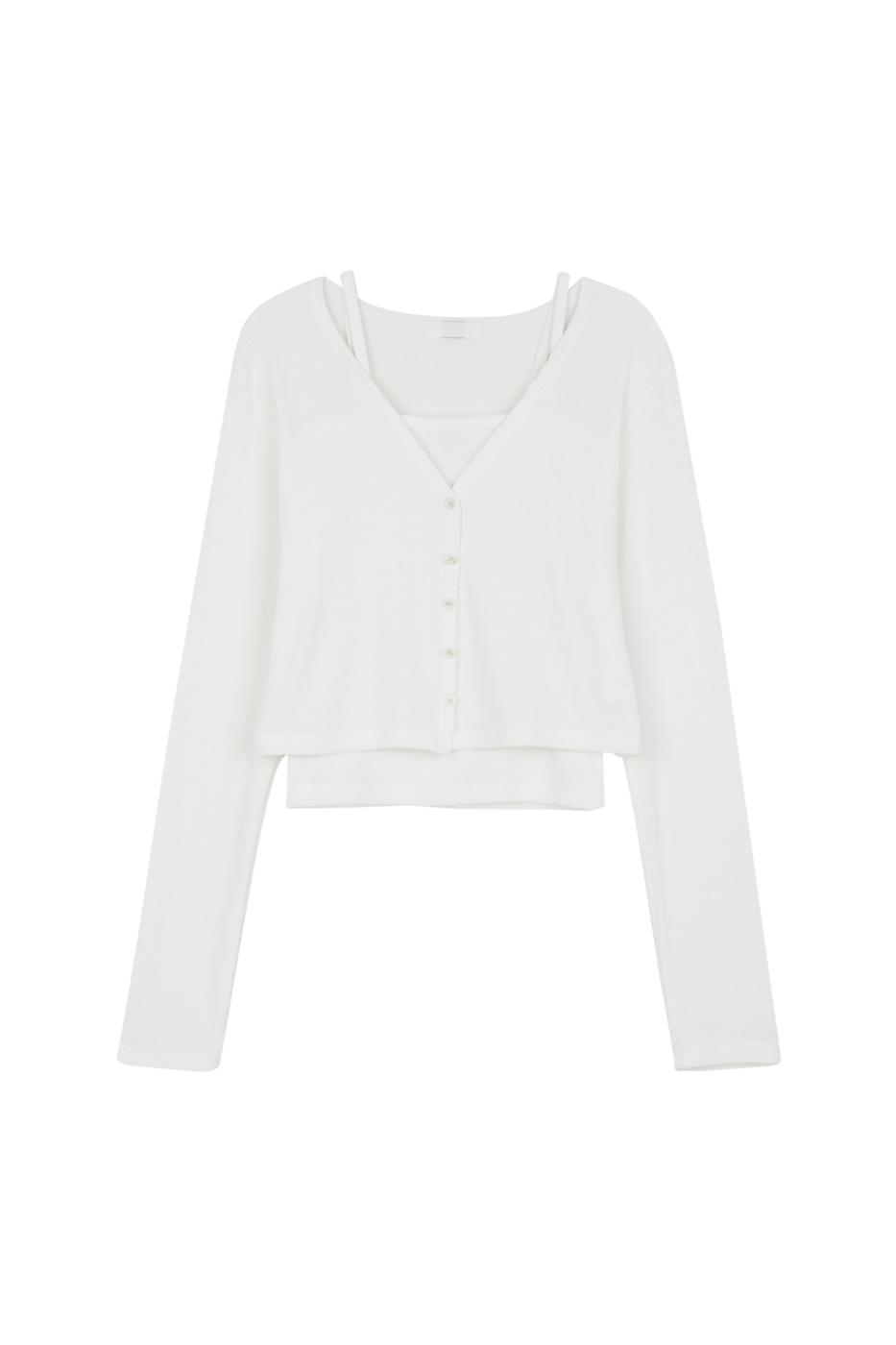 Milk sleeveless set cardigan