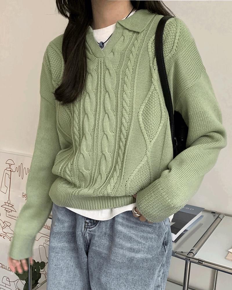 Rinna Kara Split Twisted Knitwear 針織衫