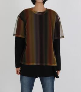 Mesh rainbow T-shirt