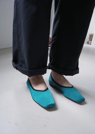 韓國空運 - color block wrinkle loafer 樂福鞋