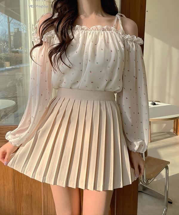 Seulgi pleats mini skirt 3color