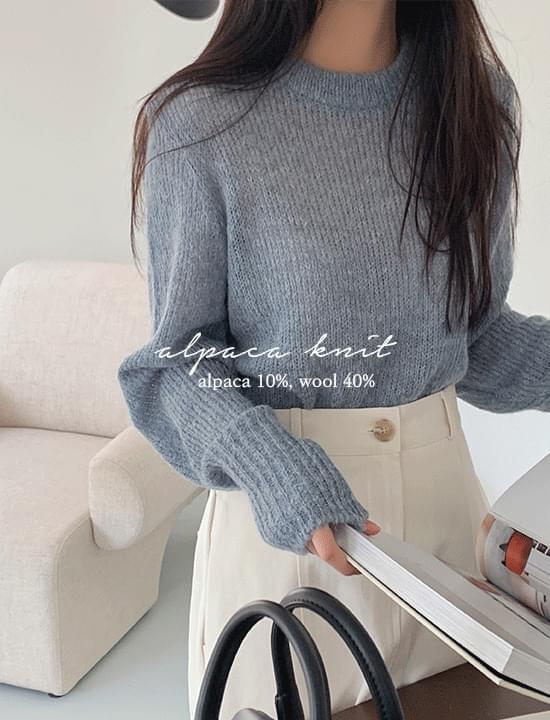 Alpaca Double Knitwear