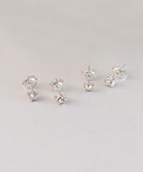 star cubic earring 耳环