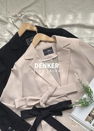 韓國空運 - Denker strap jacket 夾克外套