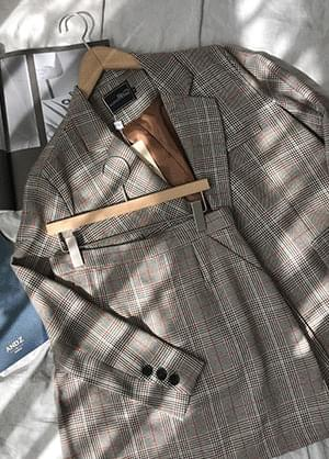 Meijuni check two-piece jacket