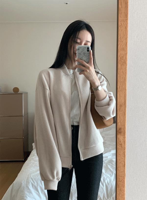 Spring Knitwear Zip-Up jp / Ivory