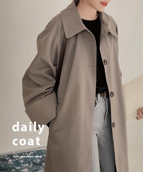韓國空運 - Dade single trench coat-3color 大衣