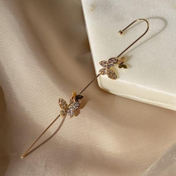 Littlefly Butterfly Crawler Hook Earrings