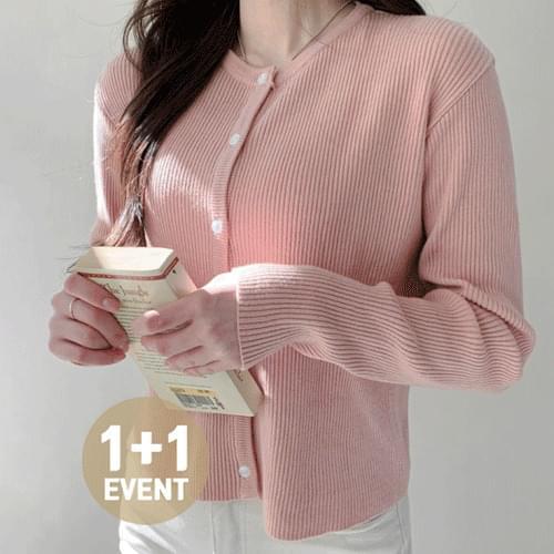 ♥ ♥ 1 + 1 discount yeori yeori Ribbed spring round neck cardigan Knitwear T # YW742