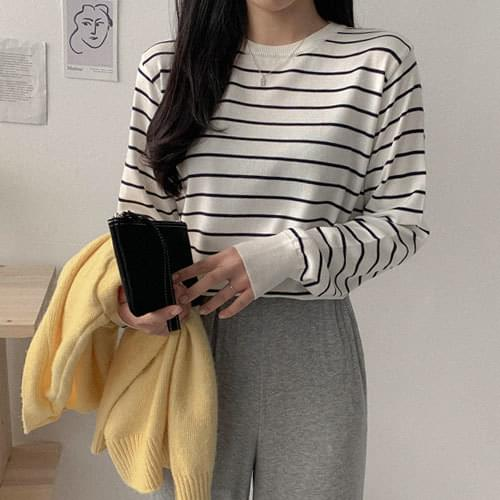 Ring Striped Split Round Knitwear