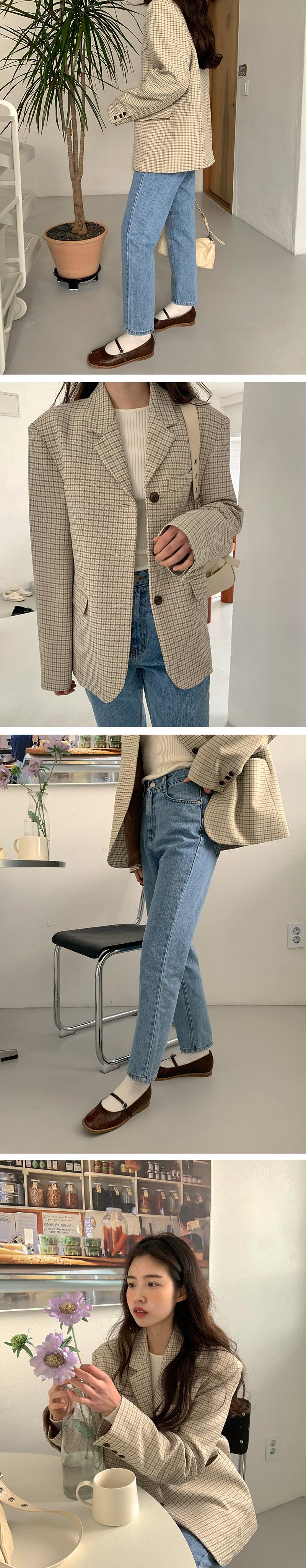 British check jacket