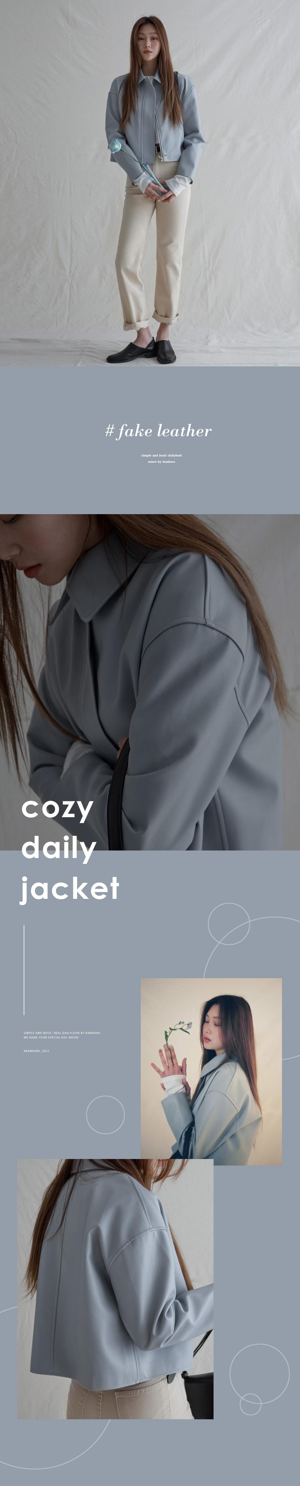 Nella Semi-Crop Leather Jacket