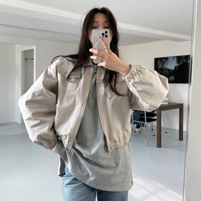 Marble semi-cropped jackets Jacket