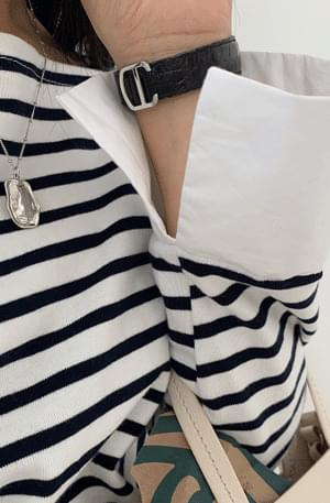 Shirt Cuff Stripe Tee