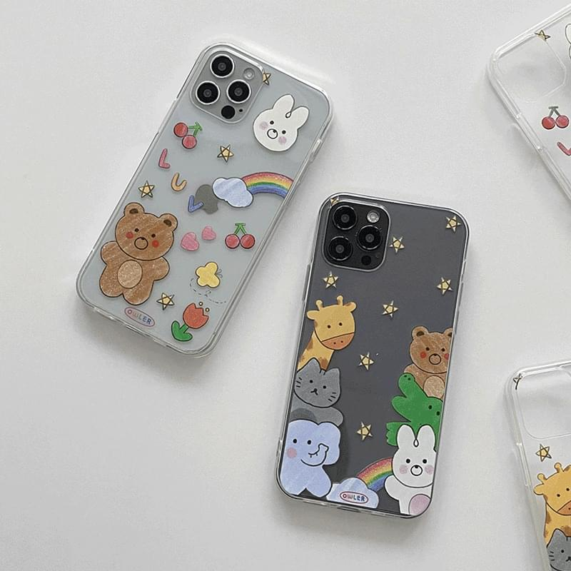 Crayon Animal Friends iPhone Case 手機殼