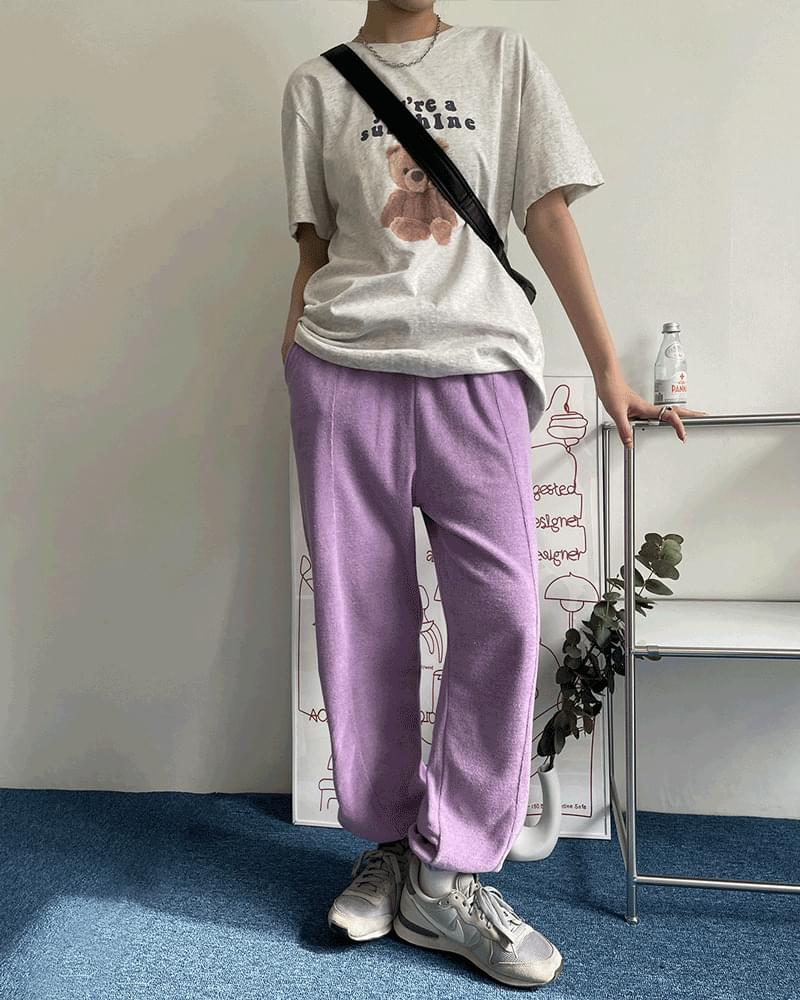 Katie Terry Stitched Towel Long Jogger Pants