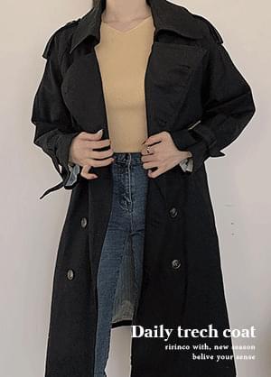 韓國空運 - Spello split trench coat 大衣外套