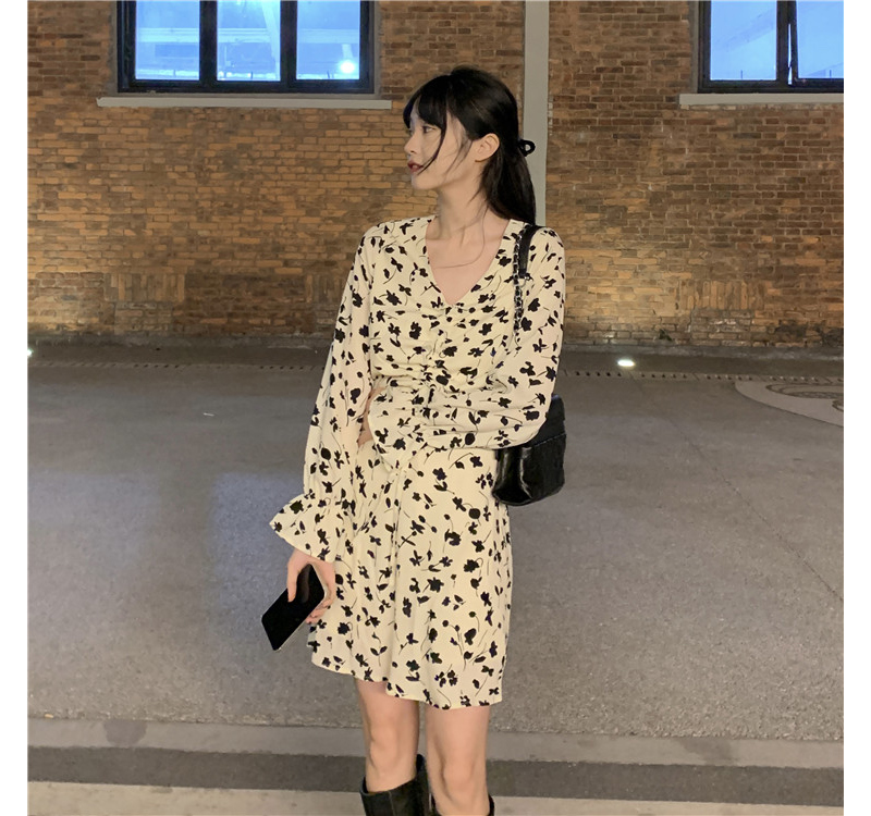 op3615 Brook Flower Mini Dress