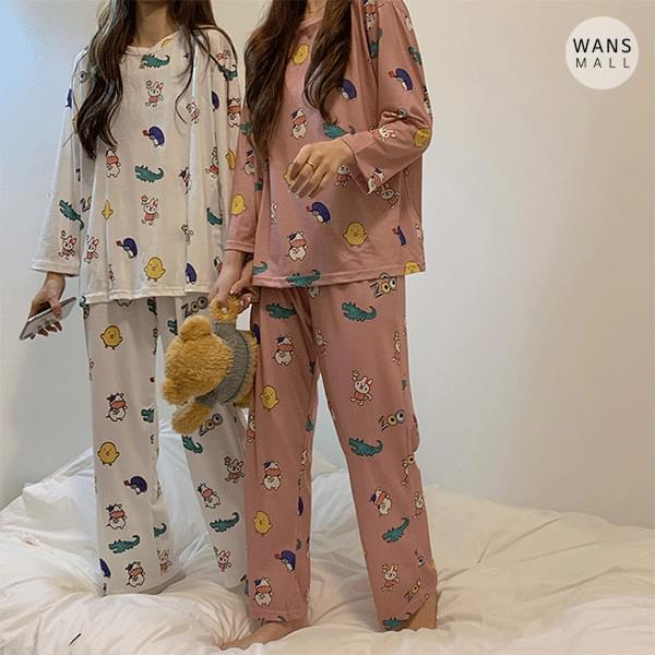 ho3622 animal pajama set 套裝