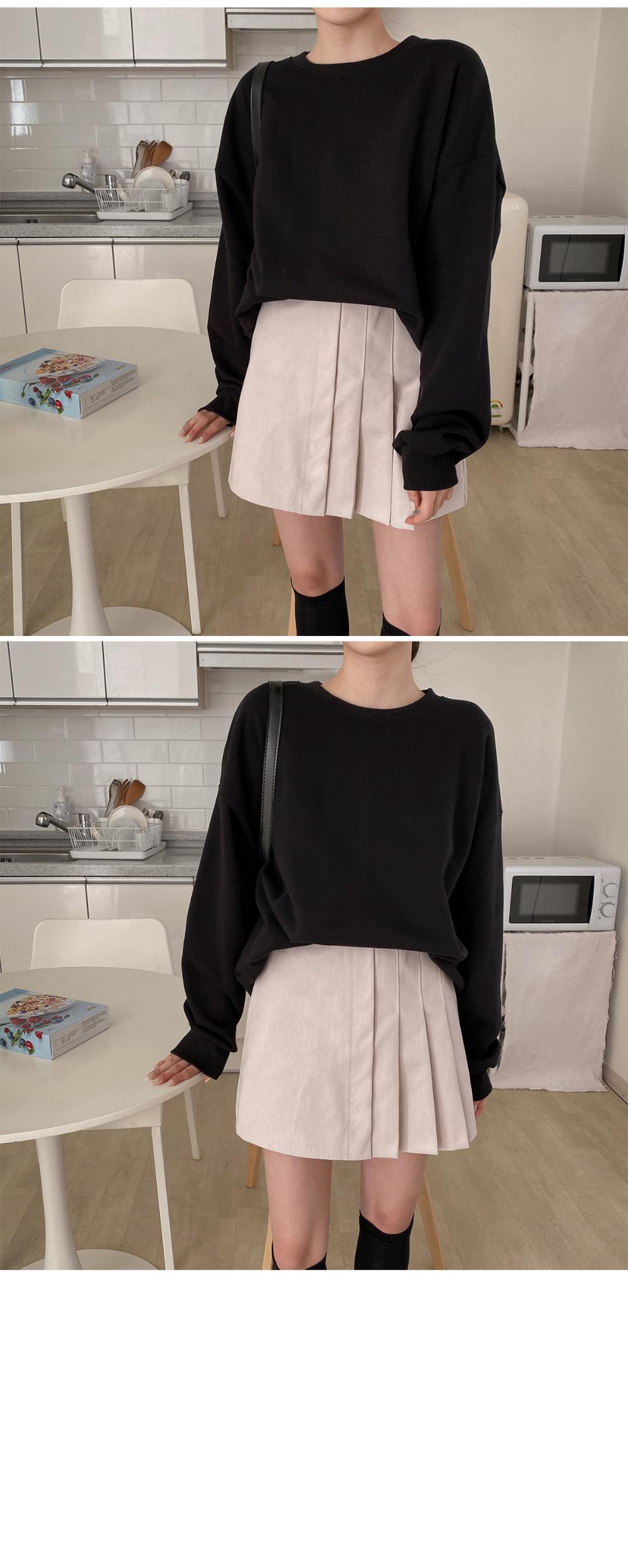 Khan Half Pleated Skirt-3color