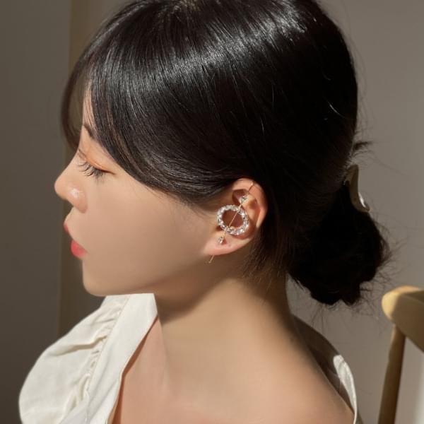 Circle Crawler Donut Hook Earrings 耳環