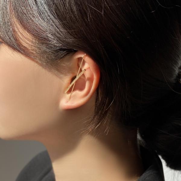 Long stick crawler hook earrings 耳環