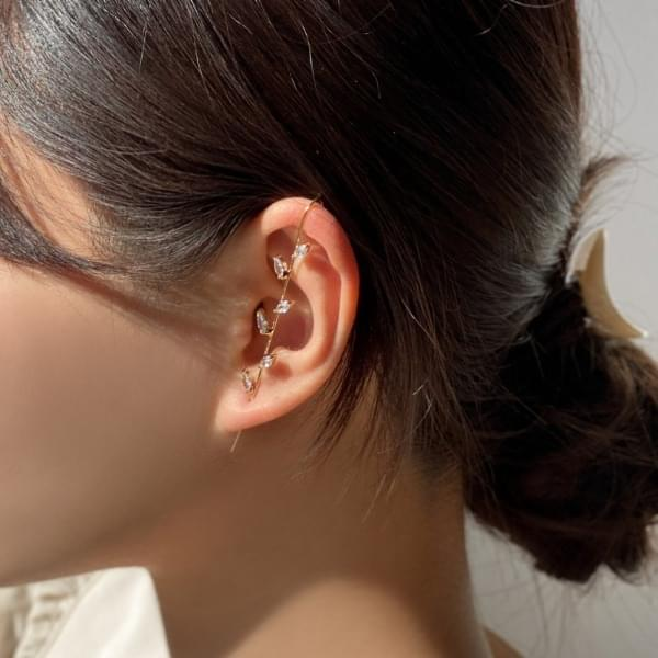 韓國空運 - Leaf Leaves Crawler Hook Earrings 耳環