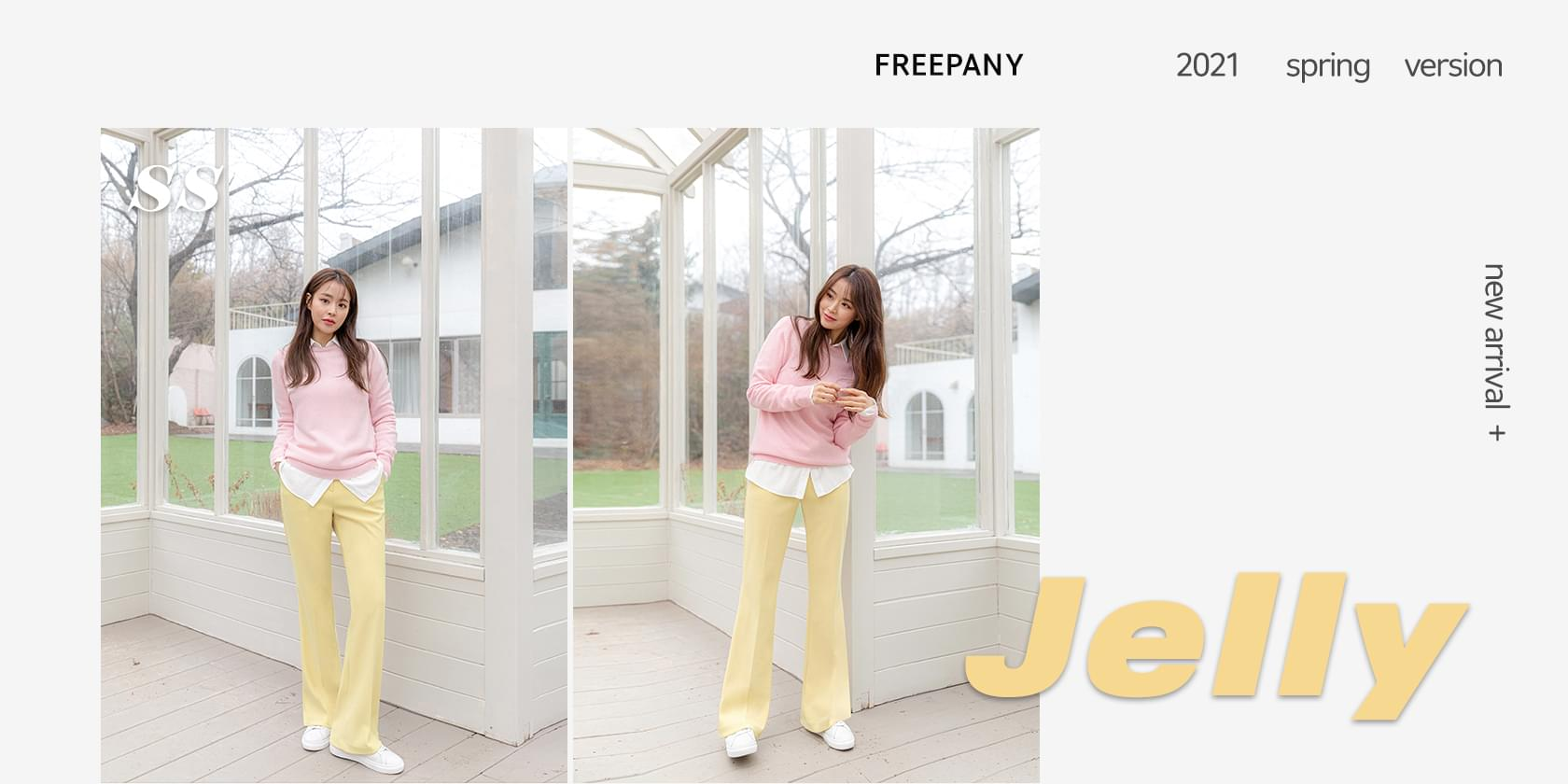 Jelly Flared slacks (XS~2XL size)