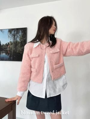Blossom cropped tweed jacket 夾克外套