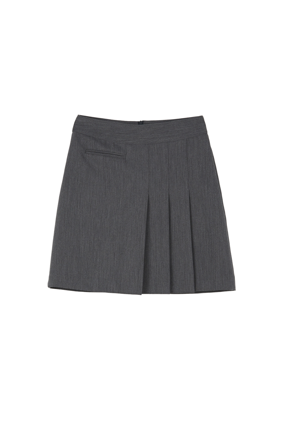 Muffin unfoot pleated mini skirt
