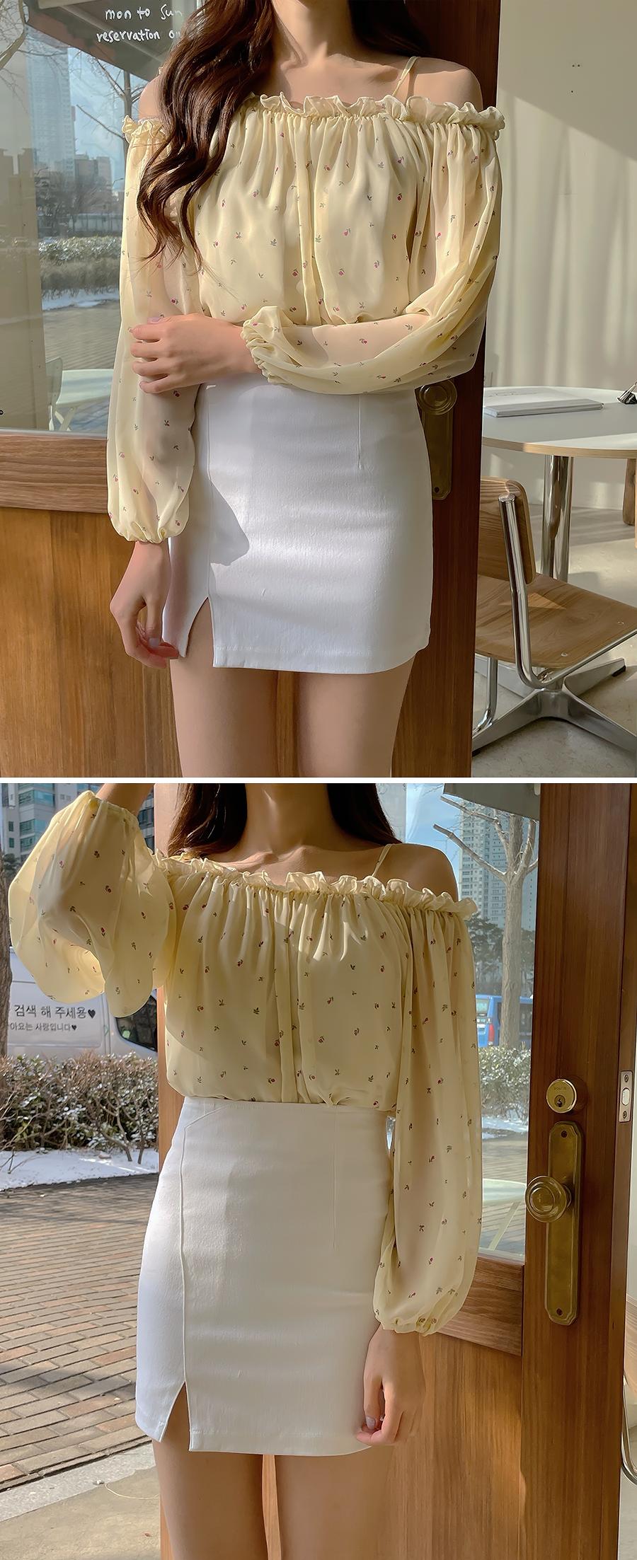 Best cost performance H-line cut skirt 3color