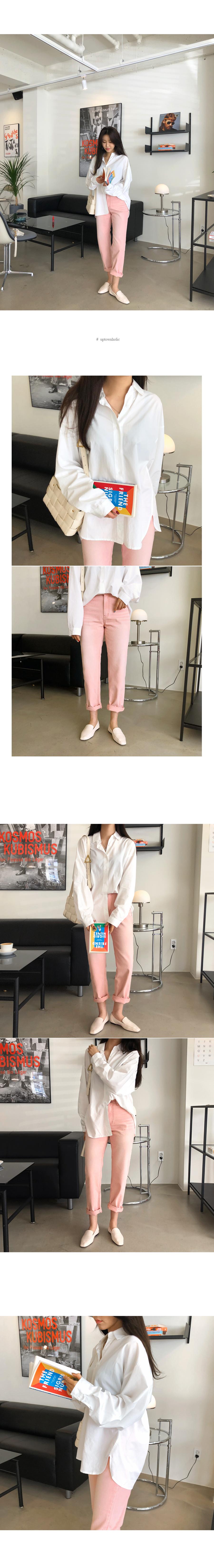 Cotton pink pants