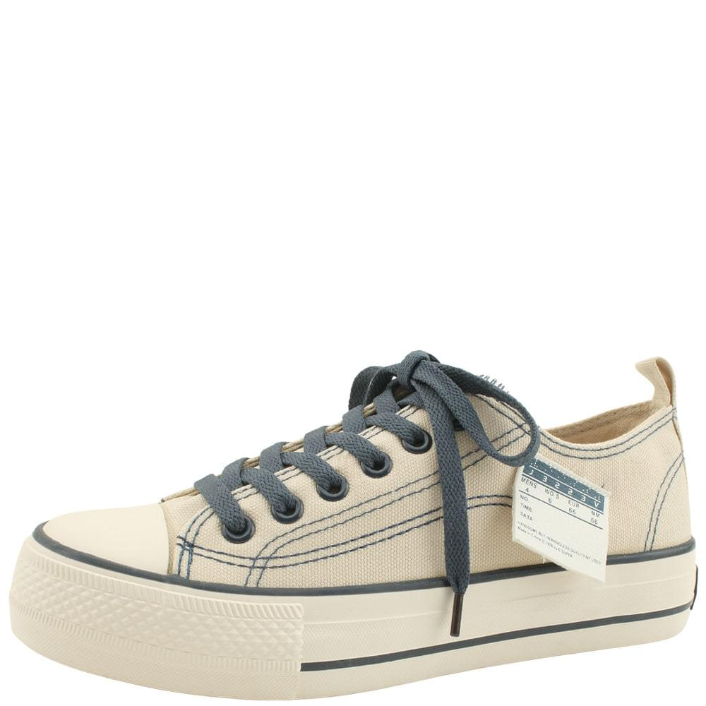 Tag Canvas Low Top Sneakers Beige