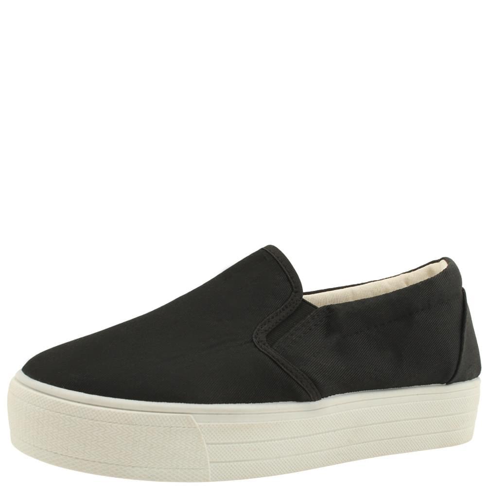 Vintage Cotton Slip-on Shoes Black