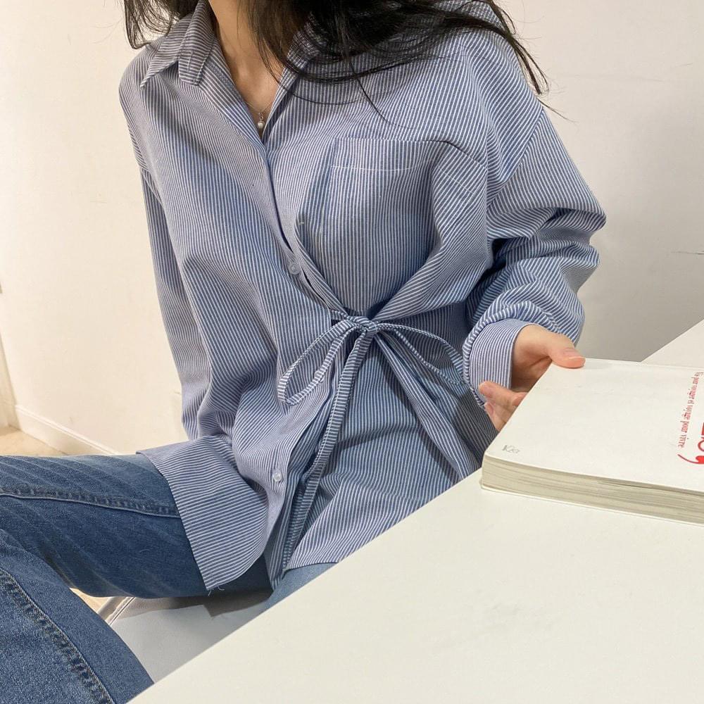 Rendezvous wrap ribbon shirt